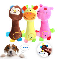 Soft Pet Dog Puppy Chew Play Squeaker Squeaky Cute Plush Sound Interactive Toys