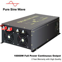 12V to 240V Pure Sine Wave Power Inverter 10000W DC to AC Car Converter Solar RV
