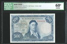 500 PESETAS DE 1954  SIN CIRCULAR Y  CERTIFICADO DE GARANTIA RARISIMO ASI