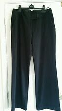 Atmosphere black Pinstripe Tailored. Work, office, Dress Trouser Size 12