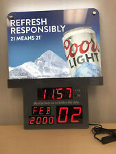 Coors Light Drinking Age Sign Great Condition Brand New