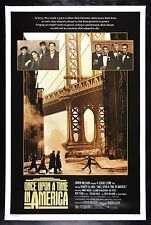 ONCE UPON A TIME IN AMERICA * CineMasterpieces MOVIE POSTER 1984 CRIME GANGSTER