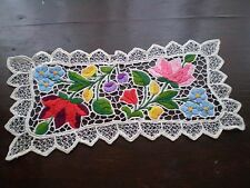 ANTIQUES Hand-made Embroidered-Crochet-Doilies