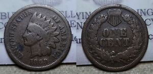 1869/9 Indian Head Cent 1c Scarce Variety !!