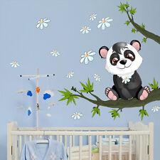 R00077 Wall Stickers Adesivi Murali bambini Baby panda 30x120 cm
