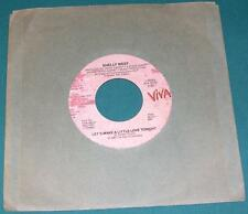 SHELLY WEST - Let's Make a Little Love Tonight (45 RPM Single) NM-