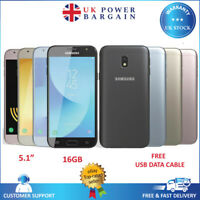 Samsung Galaxy J3 2017 J330F Unlocked Smartphone 16GB 4G 13MP Black White Gold
