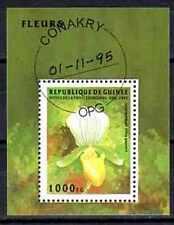 Fleurs - Orchidées Guinée (123) bloc oblitéré