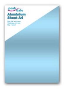 Peak Dale Aluminium Metal Sheet 0.9mm Thickness A4 1 Sheet Craft Model making