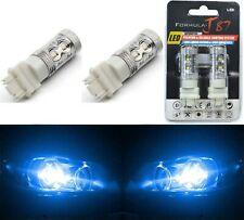 LED Light 50W 4157 Blue 10000K Two Bulbs Front Turn Signal Replacement Show Lamp