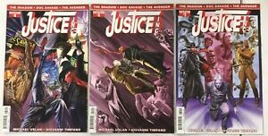 3x JUSTICE INC comic # 3 5 6 ~ The Shadow / Doc Savage / The Avenger ~ ALEX ROSS