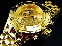Invicta 52MM Subaqua Specialty Gold Dial 18K Gold Plated High Polished SS Watch