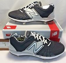 $90 New Balance Mens Size 12.5 Low Metal Baseball Cleats Black Silver