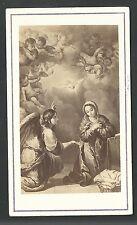 Foto albumina antigua de la Anunciacion andachtsbild santino holy card