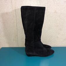 Loeffler Randall Women's Size 10B Suede Knee High Boots Black