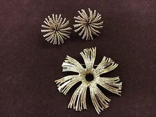 Bergere Starburst Leverback clip on earrings and pin