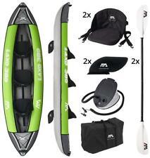 "AQUA MARINA Laxo 12.6 "" 3er Kayak Canot Ensemble Avec Pagaie Pompe Kayak Tours"
