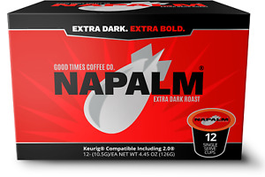 Napalm Coffee, EXTRA DARK ROAST, K Cups for Keurig Brewers 12 Count