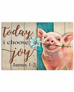 Today I Choose Joy With Pig Poster, For Livingroom, Gift For Countryside Farmer