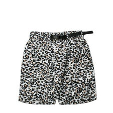 "Men's Publish Brand Cheet White Leopard Cheetah Camo Shorts Sz L 34"" Belted"