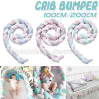 Cot Bumper Braid Pillow Nursery Bed Wall Kids Crib Cot Bedding Padded Protector