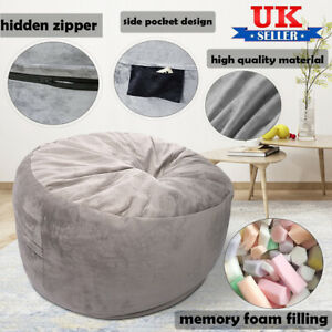 Large Bean Bag Chair Adult Teens Kid Couch Sofa Cover Lazy Lounger Garden Indoor