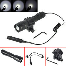 502B 5000Lm XM-L T6 LED Tactical Flashlight Torch+Rifle Mount +Remote Switch