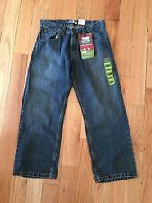 Levi's Signature Boys' Adjustable Waist Straight Leg Jeans 12 Husky 30x26 NWT