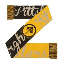 Pittsburgh Steelers Scarf Knit Winter Neck New Reversible Women's Glitter Script