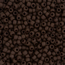 Toho Seed Beads Size 6/0 (4mm) Opaque Frosted Oxblood - 11.5g (L92/2)