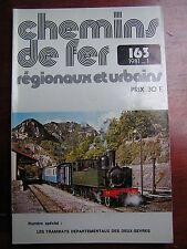 Chemins de fer secondaires 163 1981 les tramways départementaux des Deux Sèvres