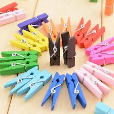 20Pcs Mini Wooden Clothes Pin Paper Craft Clips Scrapbook Clothespin Photo Peg