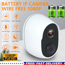 1080P WiFi Wireless Security Camera Indoor Outdoor Rechargeable Battery Powered@