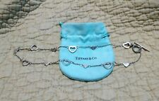 STUNNING!!! Tiffany & Co. Sterling Silver .925 Multi Heart Necklace 16""