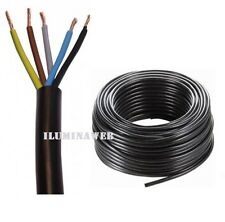 Corte x 1 Metro Manguera negra flexible 5x1.5mm2 CABLE electrico 2500w VV-K 1Kv