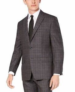 Michael Kors Mens Gray US Size 44 Regular Fit Airsoft Stretch Wool $450 #100