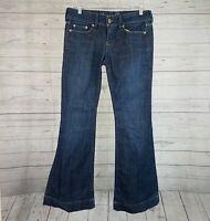American Eagle Womens Jeans Sz 6 Flare Dark Wash