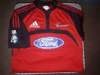 Crusaders Super 16 New Zealand Rare 2007 Adidas Rugby Shirt/Jersey. Small/Medium