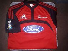 Les croisés Super 16 Nouvelle-Zélande Rare 2007 Adidas Rugby Shirt/Jersey. Small/Medium