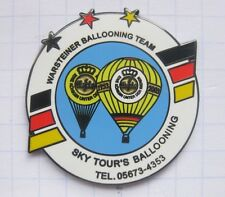 SKY TOURS / WARSTEINER BALLOONING TEAM  ... Bier-Ballon-Pin (126c)
