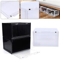Magnetic Shoe Storage Box Stackable Container Shoe Organizer Cabinet Rack