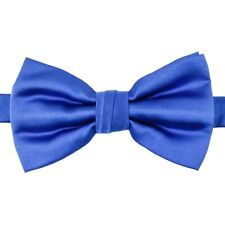 Mens Core Solid Bow Tie with Pocket Square Turquoise Blue Adjustable Pre-tied
