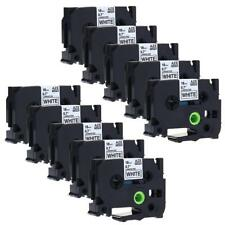 TZe-241 TZe241 Label Tape Compatible for Brother P-touch Label Maker 18mm 10 pk