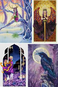 Fantasy Midwinter GODDESS Angel RAVEN Warrior CARD Pagan