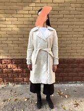 ERMANNO SCERVINO Beige Trench Overcoat Nylon Womens