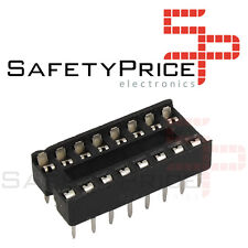 5x Zocalo integrado 16 PINs DIP 16 Socket doble contacto