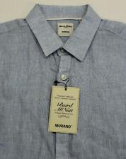 Murano Baird McNutt Linen Shirt New Men's Large L Blue MSRP $79.50