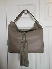 New Authentic Rebecca Minkoff Isobel Leather Hobo Bag Handbag Mushroom $295