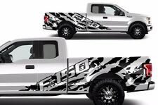 Vinyl Decal Graphics F-150 SHREDS Wrap Kit for 2015-2017 Ford F-150 Matte Black