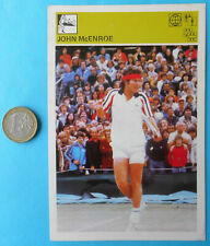 JOHN McENROE tennis - vintage sports trading card * VERY LARGE SIZE